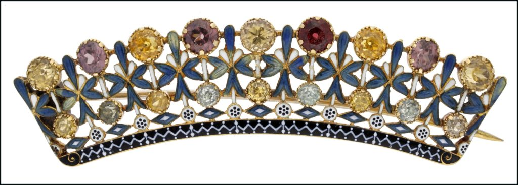 A brooch converted back to a hair clip