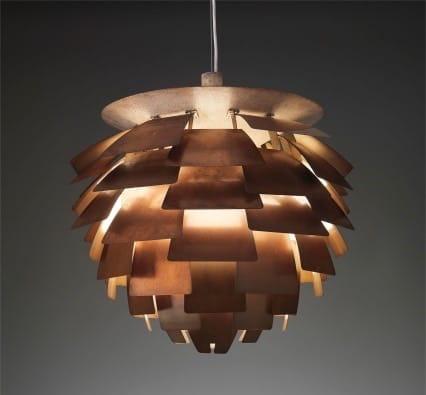 First edition Artichoke ceiling light. Designed by <br>Poul Henningsen in 1958, for Louis poulsen Lighting, Denmark.