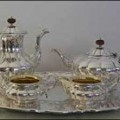 Silver Plated 4 Piece Teaset with a Tray