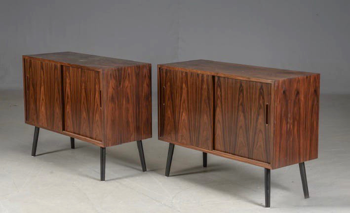 Pair of Danish rosewood sideboards,<br>designed by Paul Hundevad, c.1960s.