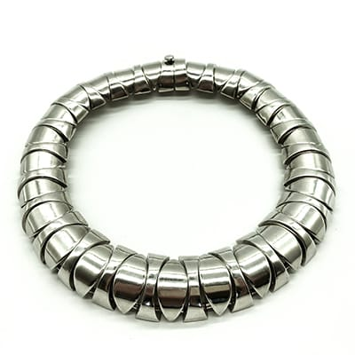 Heavy Vintage Mexican Silver Choker.