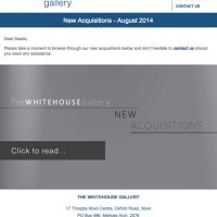 The White House Gallery – New Acquisitions – August 2014
