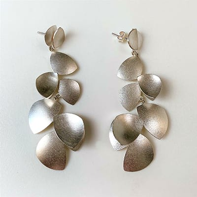 Oliwia Design, Poland, Hand-made <br>Sterling Silver Drop Earrings.