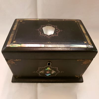 Victorian tea caddy.
