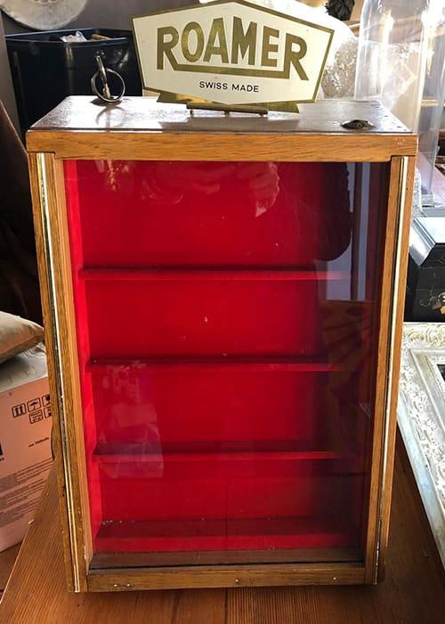 Vintage Roamer display case.